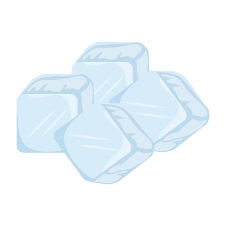ijsblokjes geïsoleerd pictogram vector illustratie ontwerp