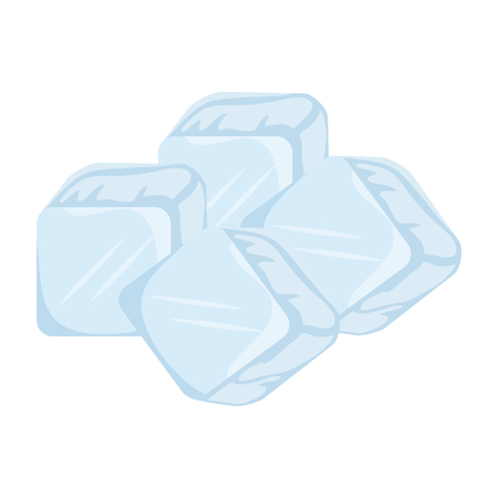 ice cubes isolated icon vector illustration design