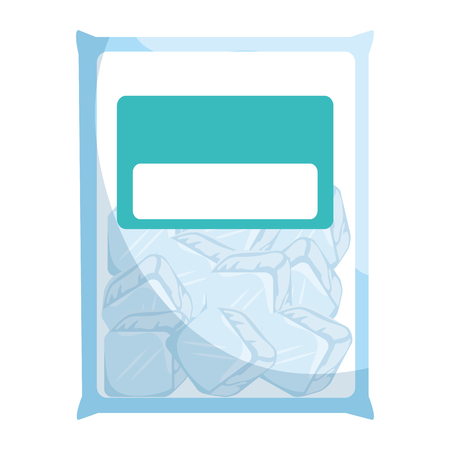 bag with ice cubes isolated icon vector illustration design Stock fotó - 95128055