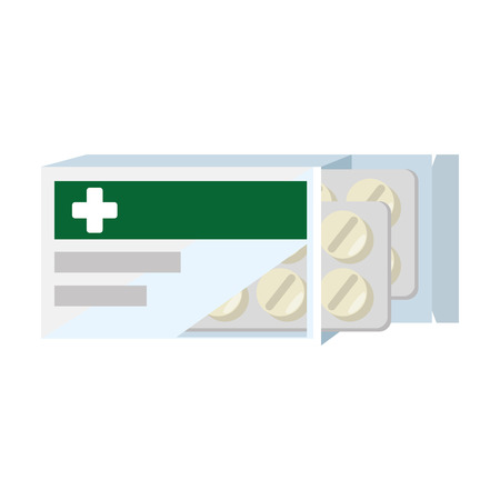 medical box with pills vector illustration design