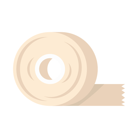 Sticking plaster roll icon vector illustration design.