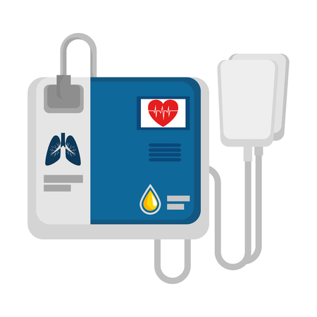 Cardiology machine isolated icon vector illustration design. Ilustrace