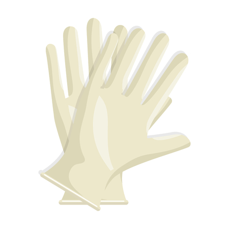 Surgical gloves isolated icon vector illustration design Vettoriali