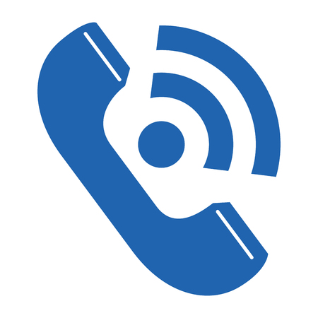 telephone service isolated icon vector illustration design 向量圖像