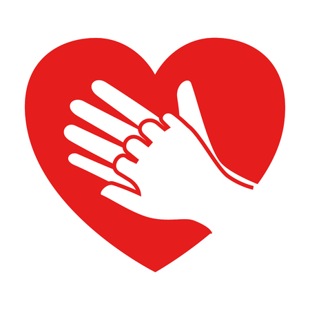 heart with hands icon vector illustration design Ilustração