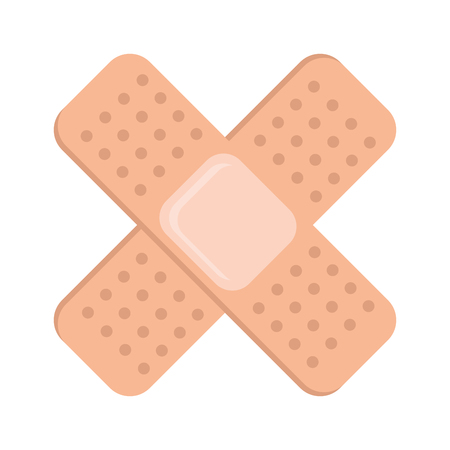 medicinal bandages isolated icon vector illustration design