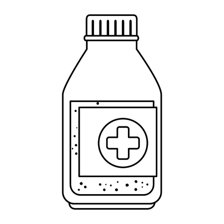 medicine bottle isolated icon vector illustration design 向量圖像