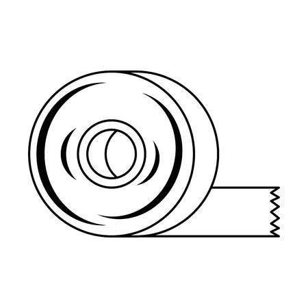sticking plaster roll icon vector illustration design Ilustração