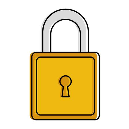 Safe secure padlock icon vector illustration design. Ilustração