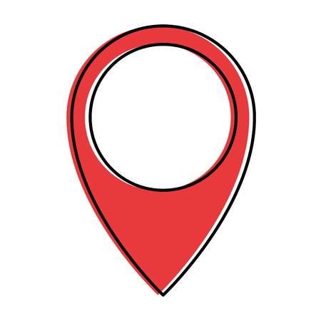 Pin pointer location icon vector illustration design.