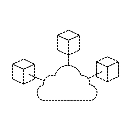 Cubes network isolated icon vector illustration design.