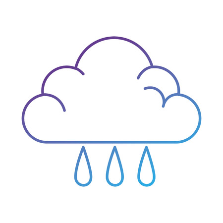 Weather cloud rainy icon vector illustration design.