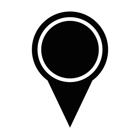Pin pointer location icon vector illustration design.