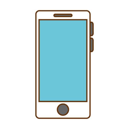 Smartphone device isolated icon vector illustration design.