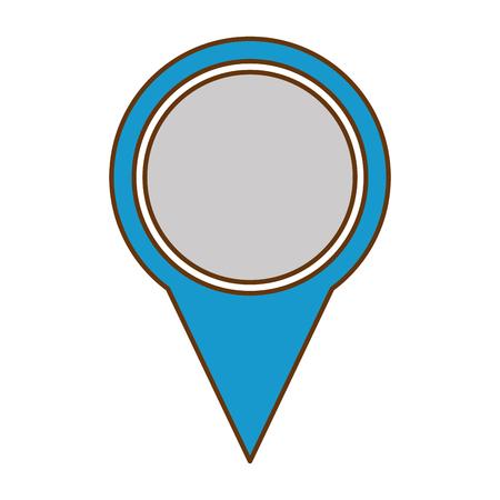 ピン ポインタの位置アイコン ベクターイラストのデザイン。  イラスト・ベクター素材