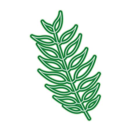 葉植物自然ベクターイラスト緑線画像を持つ木の枝