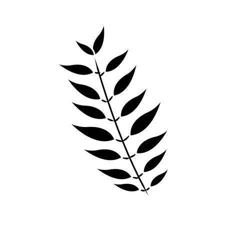 葉植物自然ベクターイラストと木の枝  イラスト・ベクター素材
