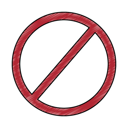 prohibition no symbol red round stop warning sign template vector illustration drawing design
