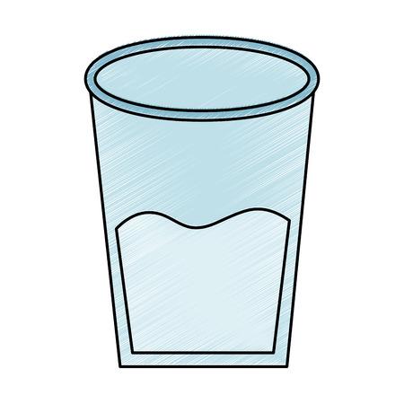 water glass health beverage liquid pure vector illustration drawing design