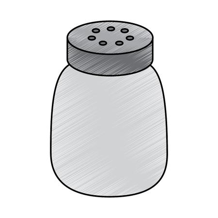 salt shaker seasoning for cooking condiment vector illustration drawing design