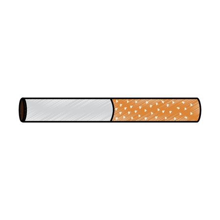 Progettazione non salutare del disegno dell'illustrazione di vettore di dipendenza della sigaretta del tabacco della barra Archivio Fotografico - 95176408