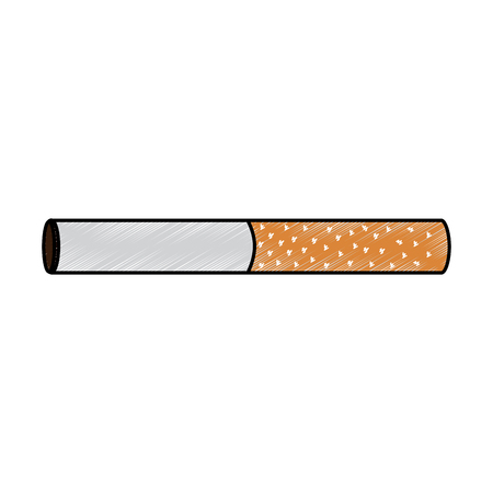 Unhealthy bar tobacco cigarette addiction vector illustration drawing design Illustration