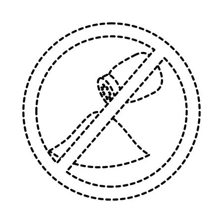 no salt sign prohibition stop symbol vector illustration sticker design