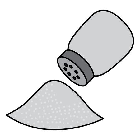 塩シェーカー成分調理食品ベクターイラスト