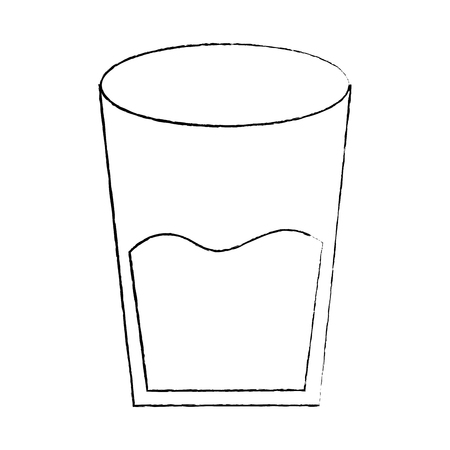 water glass health beverage liquid pure vector illustration sketch design Illustration