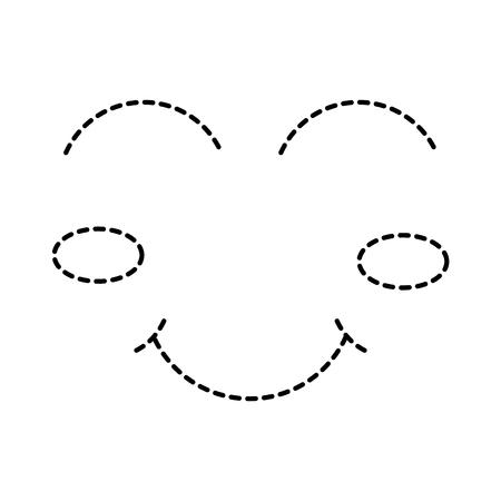 cartoon funny face winking eyes happy vector illustration Vettoriali