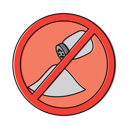 no salt sign prohibition stop symbol vector illustration