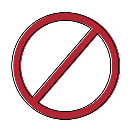 禁止なし 記号なし 赤ラウンドストップ警告サイン テンプレート ベクターイラスト