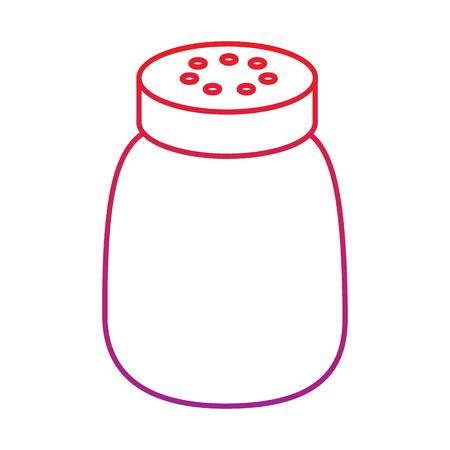salt shaker seasoning for cooking condiment vector illustration  red degraded line color Illustration