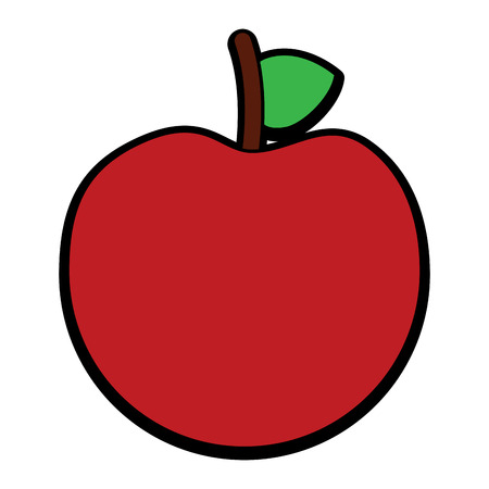 fresh tasty fruit apple nutrition diet vector illustration  向量圖像