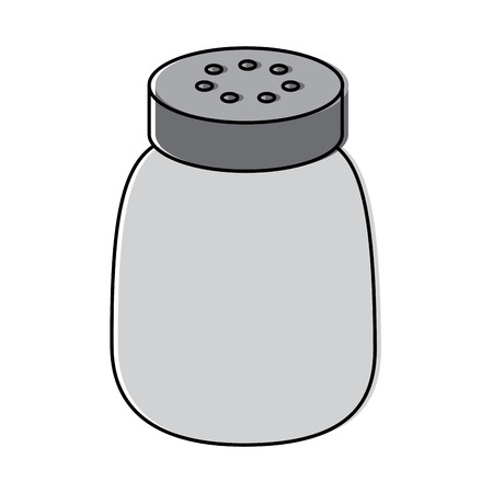 salt shaker seasoning for cooking condiment vector illustration