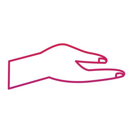 人間の手ヘルプサポートジェスチャーベクトルイラスト赤劣化線の色  イラスト・ベクター素材