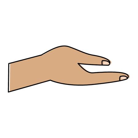 human hand help support gesture vector illustration  Ilustração