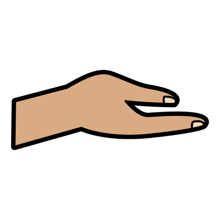 human hand help support gesture vector illustration Archivio Fotografico - 95149515