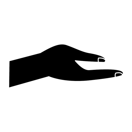 Human hand help support gesture vector illustration