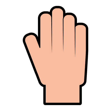hand showing five finger palm stop vector illustration Stock Vector - 95150531