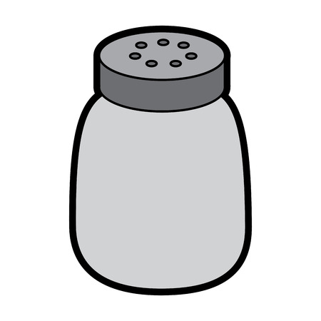 salt shaker seasoning for cooking condiment vector illustration