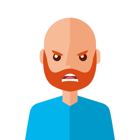 Angry young man avatar character vector illustration design Иллюстрация