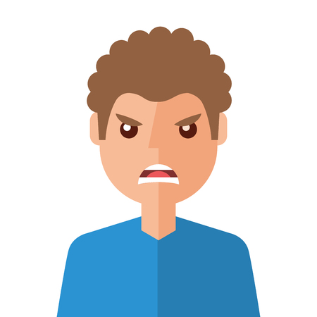 angry young man avatar character vector illustration design Stock Vector - 95150556