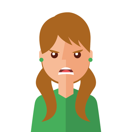 angry young woman avatar character vector illustration design Stock Vector - 95151053