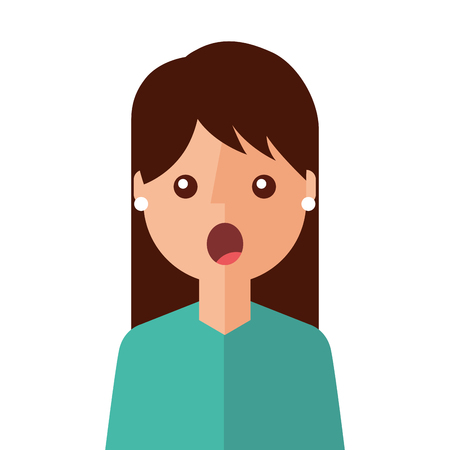 surprised young woman avatar character vector illustration design Illustration