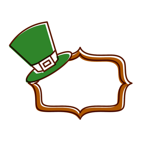 green hat and sing board empty vector illustration