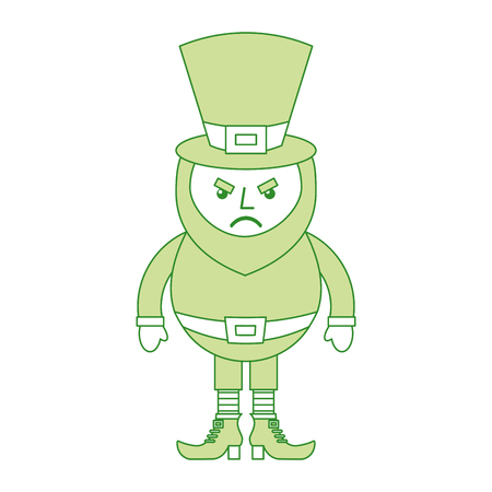 leprechaun surprise cartoon st patricks day character vector illustration