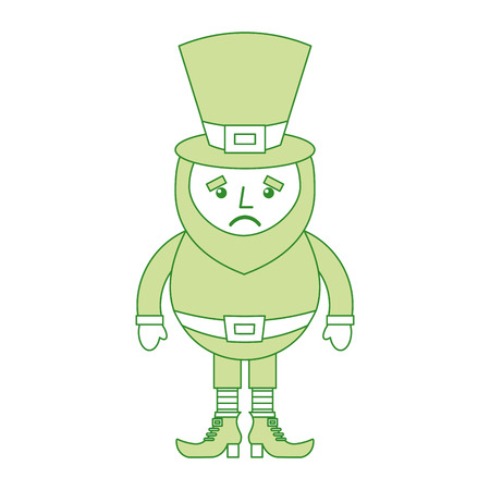 St. Patricks day portrait of a happy leprechaun vector illustration