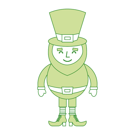 st. patricks day portrait of a leprechaun with arms up vector illustration Ilustrace