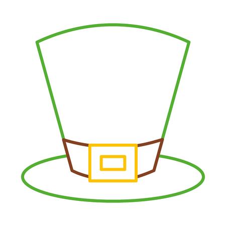green top hat accessory fashion irish vector illustration line color design